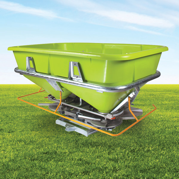 Caída livre comontrol for drop-type spreaders with horizontal blade